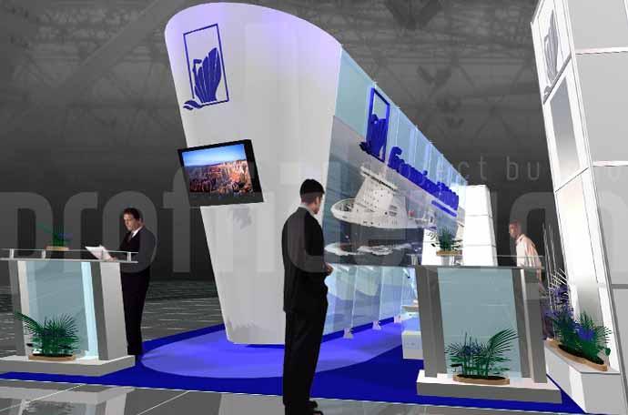 Выставочный стенд бизнес класса компании «БАЛТИЙСКИЙ ЗАВОД»