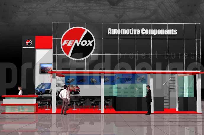 Дизайн-проект выставочного стенда бизнес класса для компании FENOX.