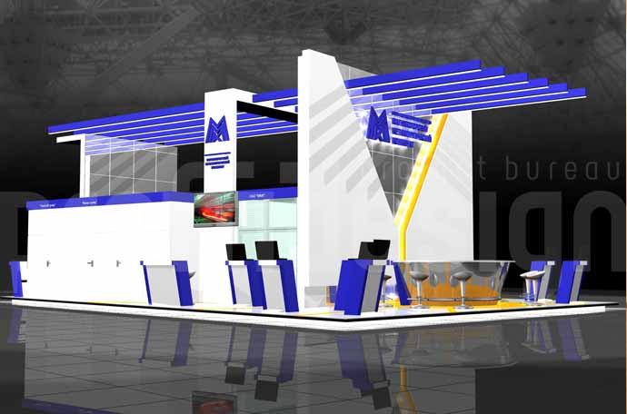 Дизайн-проект выставочного стенда для компании «ММК».