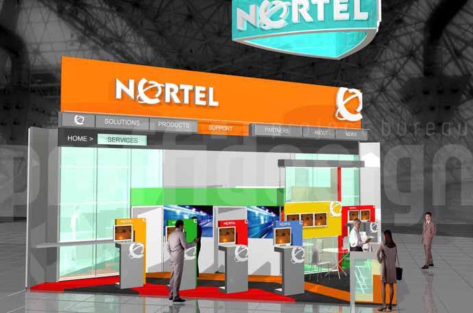 Дизайн выставочного стенда компании NORTEL.