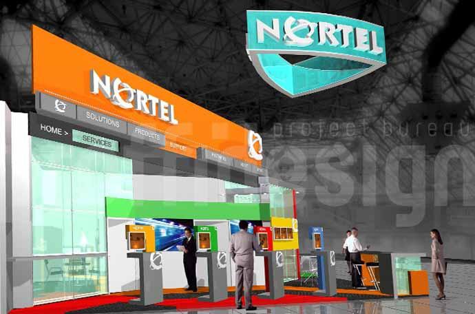 Дизайн-проетк выставочного стенда бизнес класса компании NORTEL.