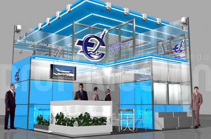 Дизайн выставочного стенда бизнес класса для «Ступинской металлургической компании».