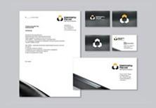 Разработать фирменный стиль для компании - логотип, бланк, визитка.