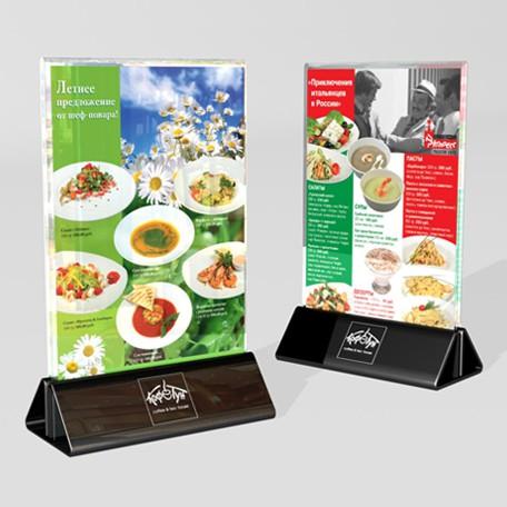 Дизайн настольного меню-акций для ресторана