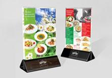 Дизайн настольного меню-акции для сети ресторанов «КофеТун».
