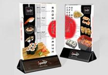 Дизайн настольного меню-акции для сети ресторанов «СушиТун».