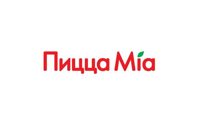 Дизайн логотипа для кафе фастфуд «Пицца Миа»