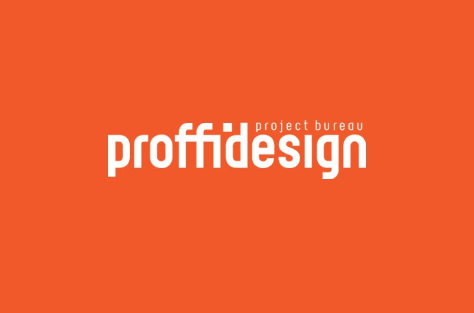 логотип дизайн-бюро «ПРОФФИ ДИЗАЙН» (инверсия)
