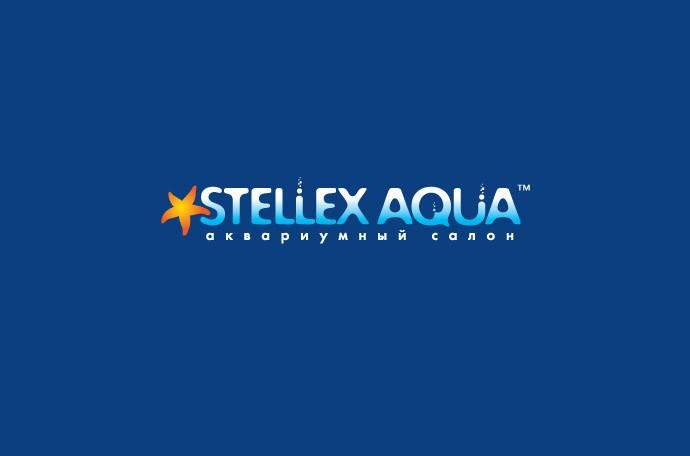 дизайн логотипа компании «Стеллекс Аква» (инверсия)