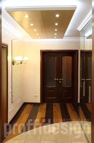 Дизайнерский ремонт - декоративный потолок с подсветкой