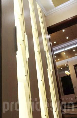 Эксклюзивный шкаф-светильник по дизайн проекту- фото