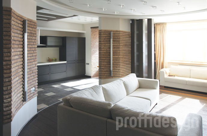 Дизайн и ремонт московской квартиры свободной планировки