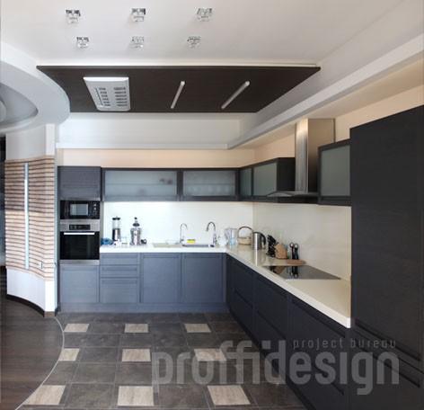 Дизайн интерьера московской квартиры - кухня - фото