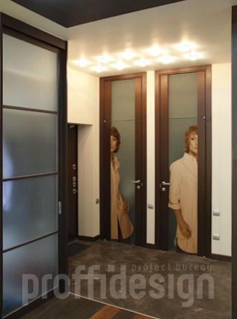 Дизайн интерьера московской квартиры на улице Гарибальди - коридор