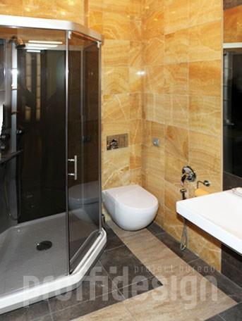 Дизайн интерьера московской квартиры - санузел с душевой кабиной