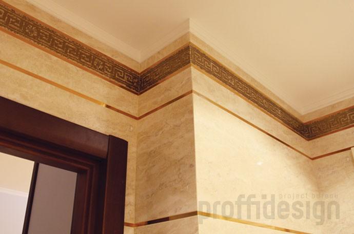 Оригинальный потолок в санузле - фото