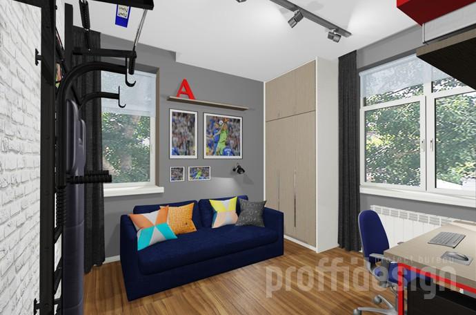Дизайн комнаты мальчика-подростка в стиле лофт