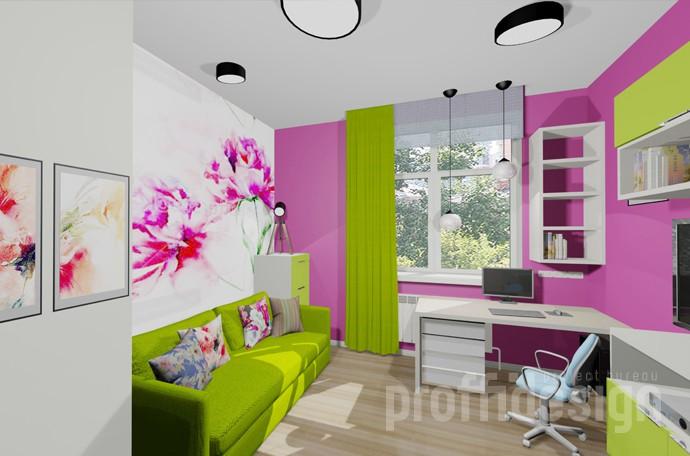 Дизайн комнаты для девочки-подростка - проект