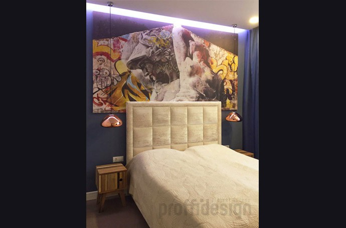 Подсветка в изголовье кровати в спальне