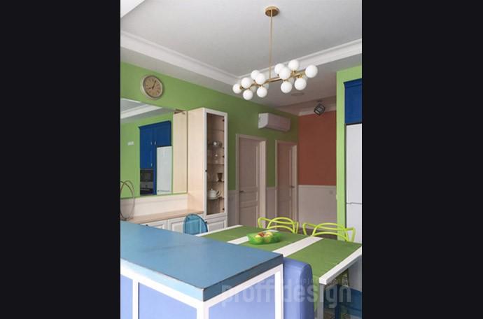 Включение балконов в площадь кухни-гостиной