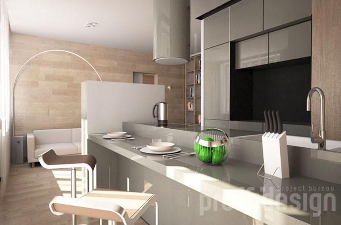 3д-моделинг интерьера квартиры в современном стиле.