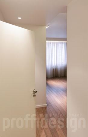 встроенные потолочные светильники в коридоре фото