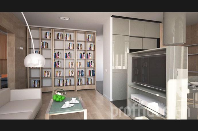 3д-моделинг гостиной в современном стиле