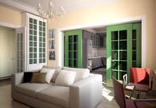 3Д-проект интерьера квартиры на Фрунзенской набережной в Москве