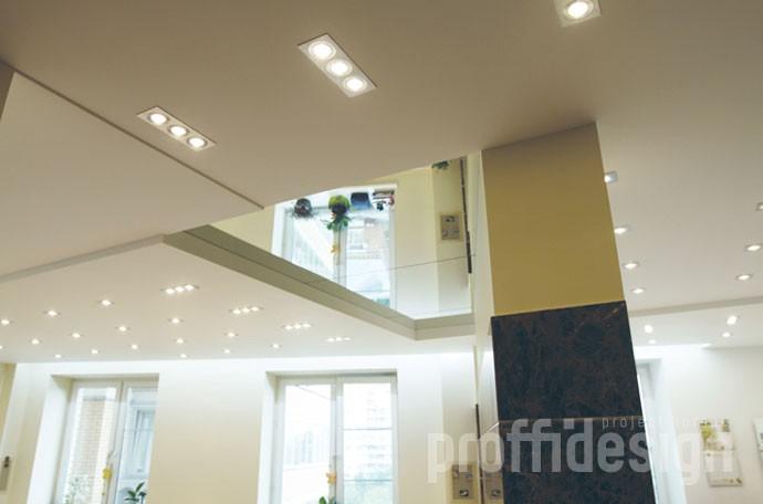 Дизайн интерьера квартиры на Можайском шоссе - потолок в гостиной