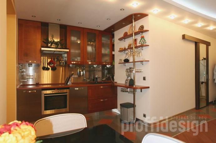Дизайн кухни в квартире-студии - Москва