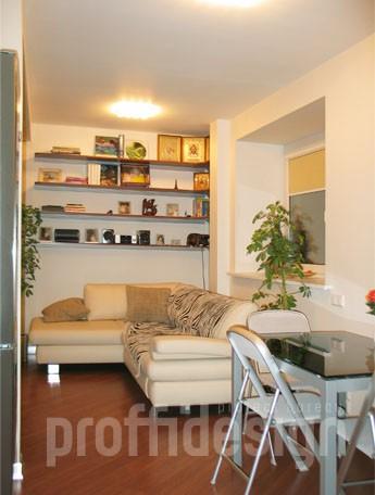 Дизайн гостиной-столовой в квартире-студии _Москва