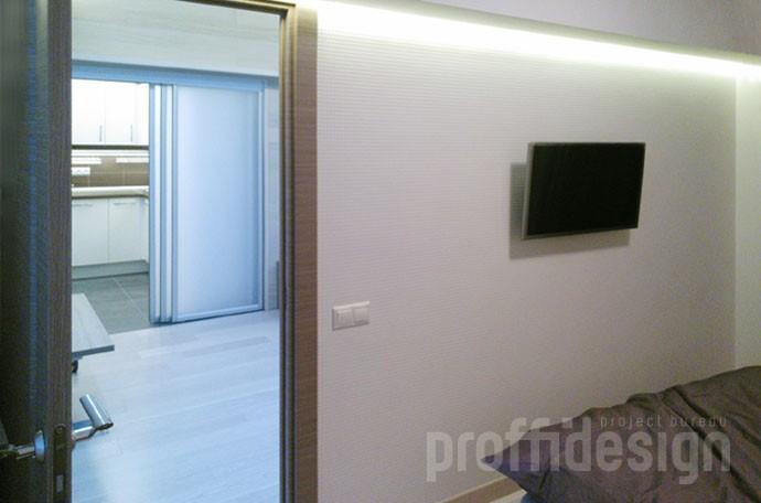Дизайн квартиры в пятиэтажке - спальня