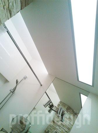 Потолок в совмещенном санузле в московской квартире - фото