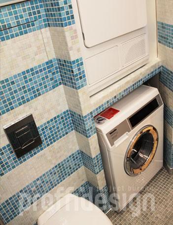 Разместить стиральную и сушильную машины в маленьком санузле