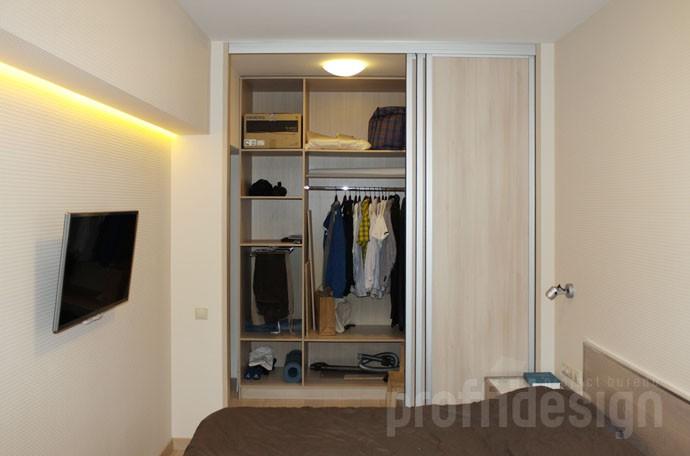 Дизайн квартиры - спальня -  шкаф-купе