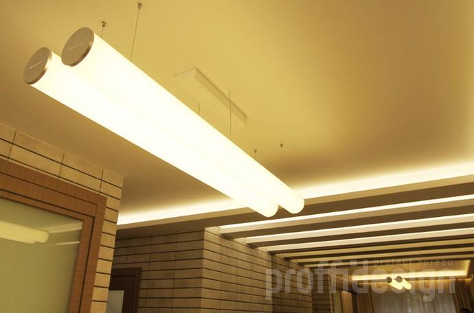 Решение освещения потолка в гостиной, дизайн потолка