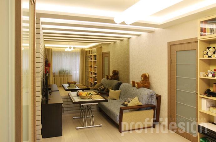 Дизайн гостиной в малогабаритной квартире