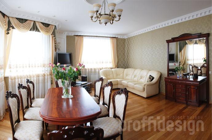 Дизайн интерьера гостиной загородного дома - Калужское шоссе, фото