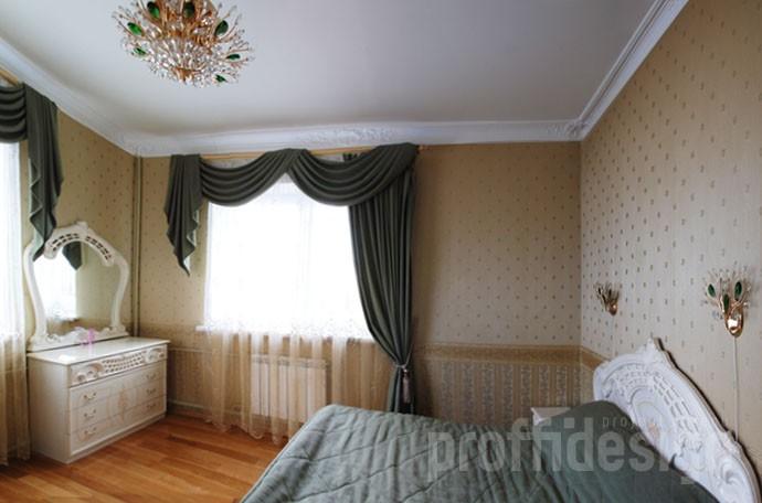 Фото дизайн спальни на первом этаже загородного дома на Калужском шоссе, МО