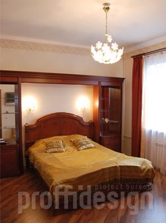 Фото дизайн интерьера спальни на втором этаже - Калужское шоссе, МО