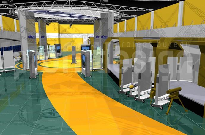 Дизайн выставочного зала для компании КБП