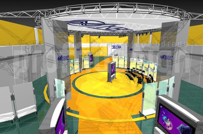 Дизайн проект выставочного зала для компании КБП