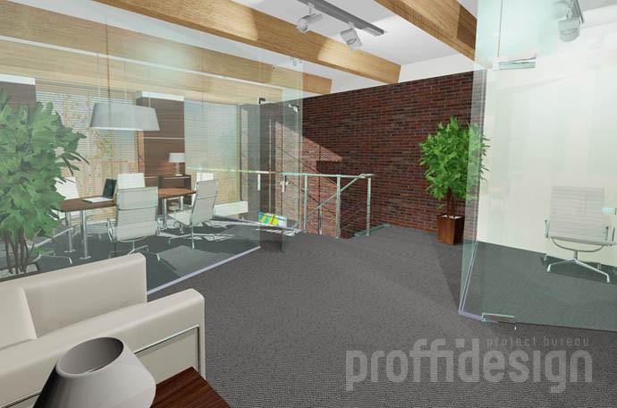 Дизайн интерьера второго этажа офиса
