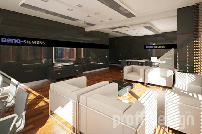 Зона ожидания в интерьере офиса компании BENQ-SIEMENS