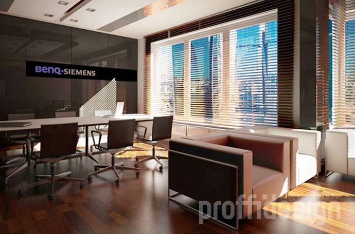 Дизайн интерьера офиса компании BENQ-SIEMENS