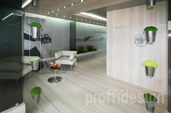 Декорирование переговорной в шале «РОСОБОРОНЭКСПОРТ» на выставке «ПАРИЖ АЭРО ШОУ-2009»