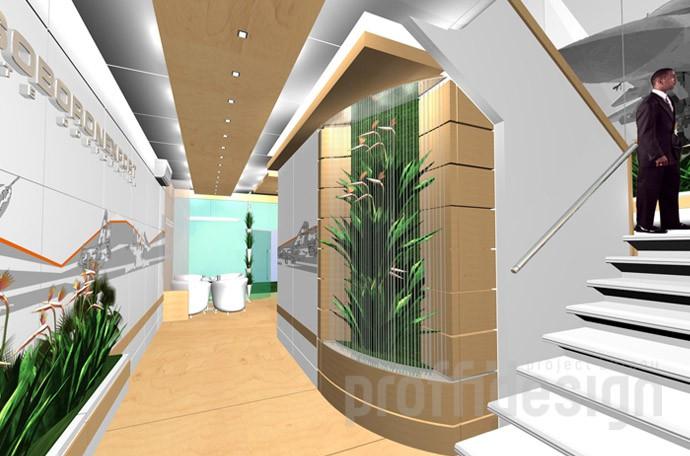 3д-визуализация интерьера выставочного шале