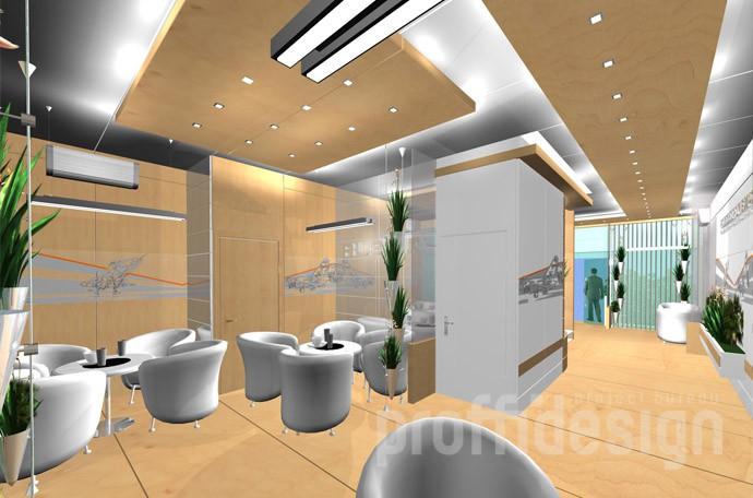 3д-визуализация интерьера выставочного шале, лаунж-зона