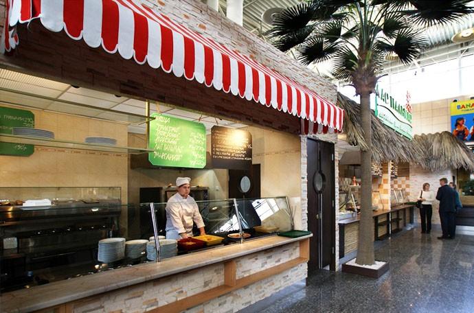 Дизайн фастфуд пиццы в ресторанном дворике «Лас Пальмас», фото