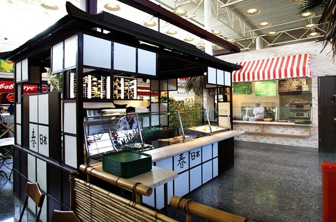 Дизайн фастфуд японской кухни вна территории фуд-корта «Лас Пальмас», фото
